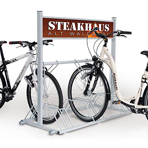 Werbe-Fahrradständer Security Station - 6 Einstellplätze - mit Werbefläche