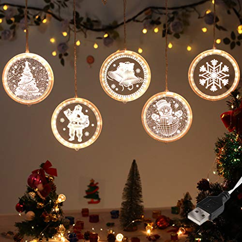Vdaye Christmas String Light Window Decoration Light Waterproof Twinkle Fairy Lights for Indoor Outdoor Home Garden Party Wedding Christmas Tree Pendant Light (Remote Control Light)