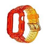 LXFFCOK Lazo de la Correa de la Banda de Reloj de Goma de Silicona para Watch 6SEA 5 4 40mm 44mm Pulsera Deportiva para Relojes 38mm 42mm Serie 6/5/4/3/2