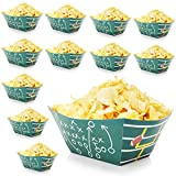 Football Field Party Snack Bowls for Game Day (12 Pack)