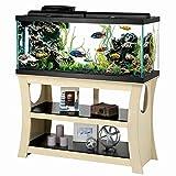Aqueon Trends Black/Natural Wood Aquarium Stand, 48' L, 48 in, Natural Wood / Black