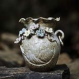 Without logo DSJTCH Diseño Azul y Blanca China de la cerámica Hecha a Mano nuevos Adornos florero (Size : B)