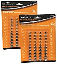 HnF XMS1489 80 Piece Alkaline Button Battery Set, Silver