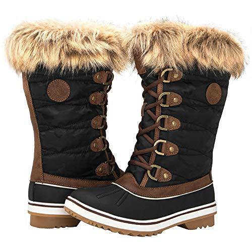 GLOBALWIN Women's 1837 Winter Snow Boots (7 (M) US Women's, 1837Brown)