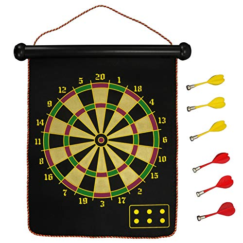 Iconikal Double-Sided Magnetic Dartboard with 6...