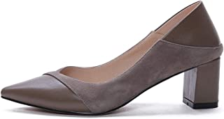 [Vessanic] パンプス スクエアヒール5.5cm ポインテッドトゥ レディース 歩きやすい 太ヒール 走れる 美脚