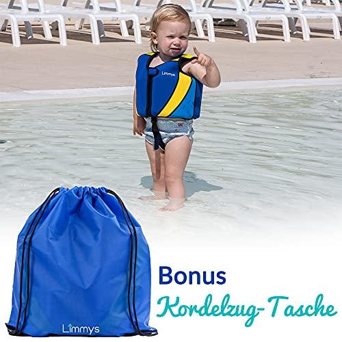Limmys Premium Neopren Schwimmweste, ideale Schwimmhilfe für Jungen, Extra Kordelzugtasche inklusive (Mittel)