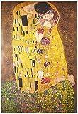 Pyramid Poster Der Kuss von Gustav Klimt, Papier,