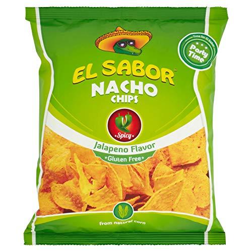 El Sabor Nachos Chips Jalapeno - 225 gr