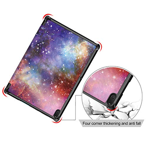 Shinyzone Slim Case for Lenovo Tab E10 10.1 inch Tablet TB-X104F,Trifold Stand Smart Cover,Auto Sleep/Wake Function,TPU Bumper Reinforced Corner Protective Case,Galaxy