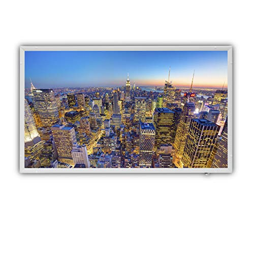Protron Motiv Infrarotheizung Infrarot Panel Heizkörper Bild Elektroheizung Wandheizung 600Watt 600W 102x63cm (120311 New York)