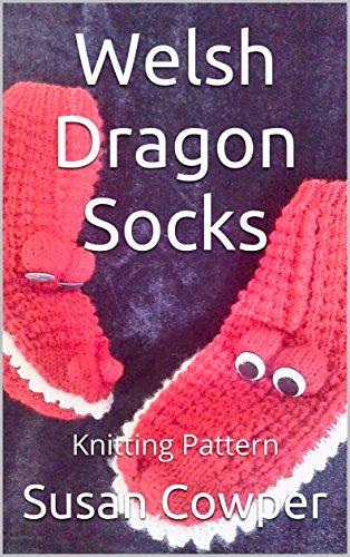 Welsh Dragon Socks: Knitting Pattern (English Edition)