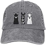 'N/A' Unisex adulto Llama Funny Be Cool lavado Denim algodón deporte al aire libre gorra de béisbol...