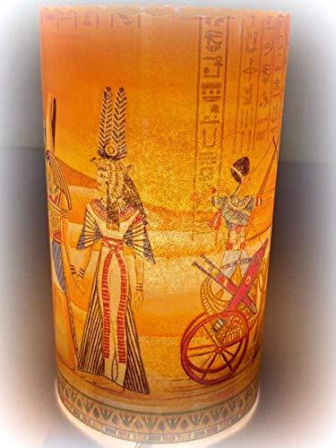 Windlicht Tischdeko Ägypten Pharao Pyramiden Serviettentechnik Lichthülle
