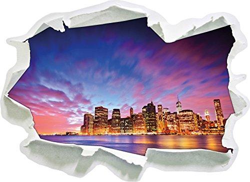 Skyline New York - Blick vom Dach des Empire State Building, Papier 3D-Wandsticker Format: 62x45 cm Wanddekoration 3D-Wandaufkleber Wandtattoo