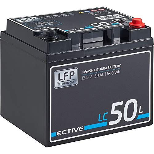 ECTIVE LC50L 12V 50Ah 640Wh LiFePo4 Lithium-Eisenphosphat Versorgungs-Batterie mit BMS