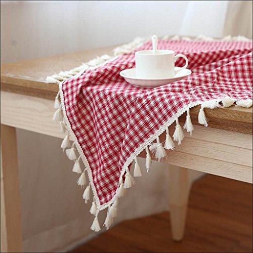 Placemats rond voor het huis verse tafelkleden voor de was (150 cm x 150 cm) 150CM*150CM Rood