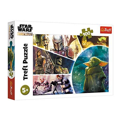 Trefl, Puzzle, Baby Yoda, 100 Teile, Lucasfilm Star Wars, für Kinder ab 5 Jahren