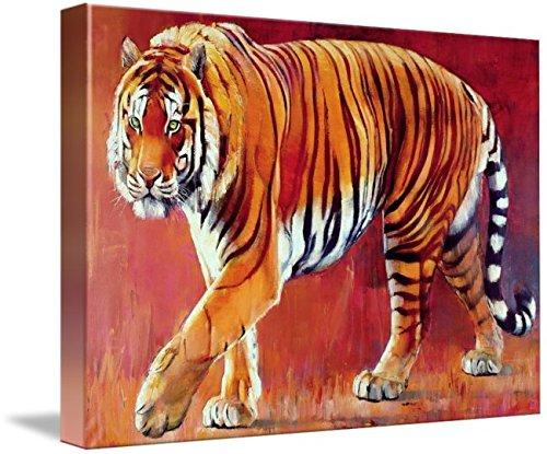 Imagekind Canvas Wall Art Print Decor Entitled Bengal Tiger by Mark Adlington by The Fine Art Masters   32 x 23