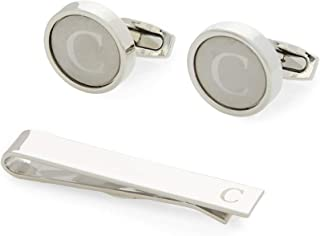 Sponsored Ad - Men's Initial Cufflinks and Tie Clip Set with Gift Box, Letter C (3 Pieces)