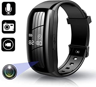 RNNTK Reloj Deportivo Mini Spy Camera,USB Recargable Cámara Espía Oculta HD1080P Smart Bracelet,Llévelo con Usted Grabador...