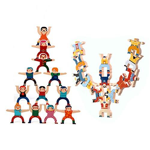 XXSLY 2 Juegos de Bloques de Equilibrio, Juego Alto de apilamiento de Juguetes educativos de educación temprana Hercules Jenga para niños niñas Interacción Entre Padres e Hijos