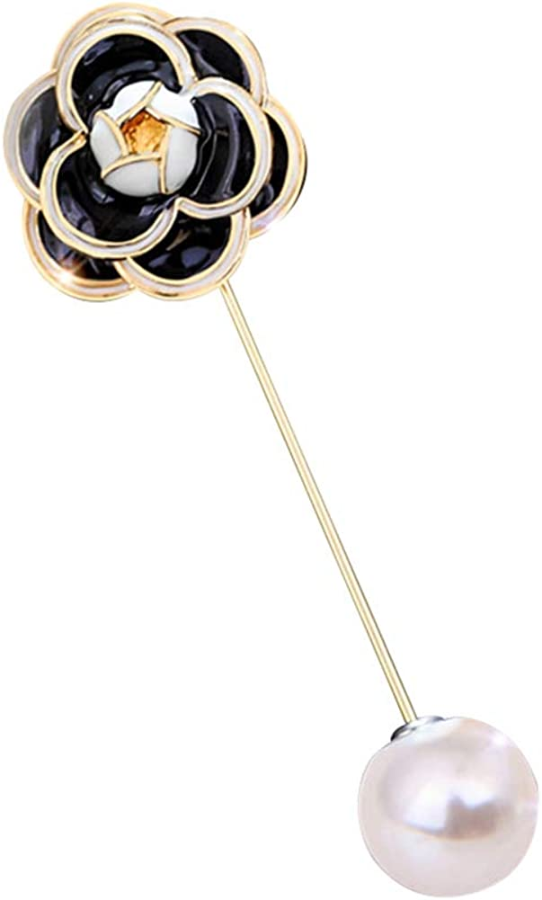 HaHawaii Brooch Pin Fashion SEAL limited sold out product Faux Rose Flower C Pearl
