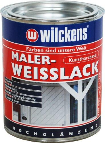 Wilckens Maler-Weißlack Weiß, hochglänzend, 750 ml