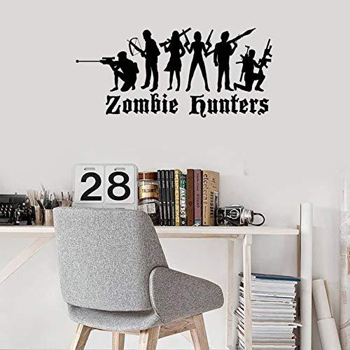 HGFDHG Zombie Hunter Tatuajes de Pared habitación para Adolescentes niños Dormitorio Sala de Juegos decoración del hogar Interior Vinilo Pegatinas de Pared Arte Mural