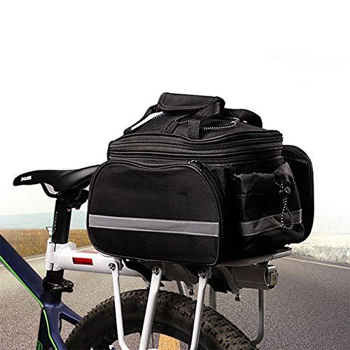 Ti-Fa Sac vélo Pannier Siège étanche Vélo arrière du Coffre Panniers 10-25 L Capacité évolutive avec bandoulière et antipluie Couverture pour Commute, Voyage et Pique-Nique
