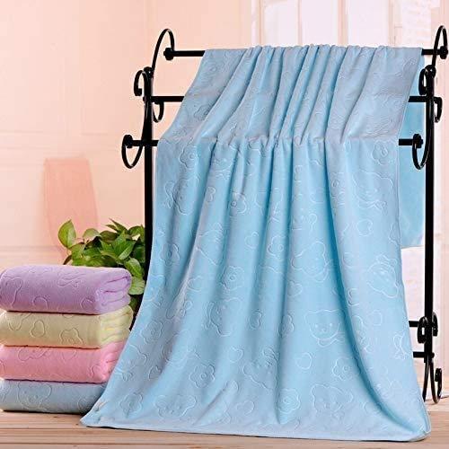 KKGASSAB Toalla de baño portátil 70 x140cm Microfibra Absorbente Toalla de baño Soft Ducha Toalla Suave Secado rápido Lavabo (Color : Blue, Size : 70x140cm)