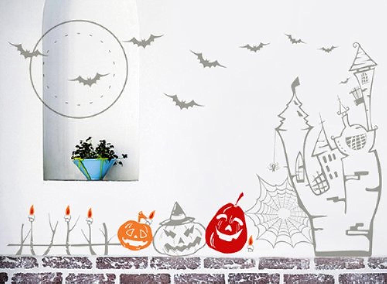 Pop Decors PT-0183 Halloween Decals 3 Removable Vinyl Art Wall Decals Mural for Nursery Room