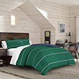 IZOD Colin Stripe Comforter Set, Full/Queen, Green