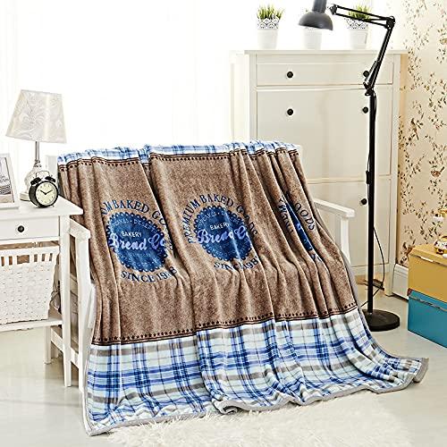 KLily Varios Patrones Mantas Material De Franela Lavable Hogar Dormitorio Sala De Estar Aire Acondicionado Siesta Manta Oficina Dormitorio Manta