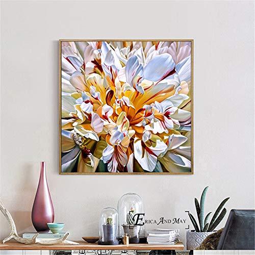 KWzEQ Leinwanddrucke Hübsche Blumen Poster und Bilder Wanddekoration für zu Hause Wohnzimmer50x50cmRahmenlose Malerei