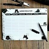 Katzen Wochenplaner - Putzplan, Lernplan, Essensplaner, To-do-liste, Stundenplan - DINA 4 Block mit Kater Moo - Wochenkalender