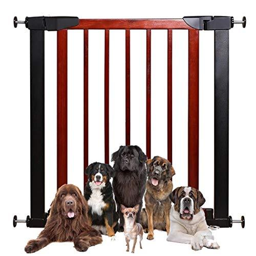 LNDDP Valla telescópica Baby Gates para escaleras Barrera de Seguridad Barrera de Aislamiento para niños Barrera de perforación sin Mascotas Cerradura Doble Cierre automático