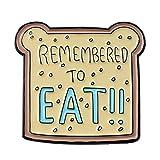 slibrat Bread Toast Pins Brooch Cartoon Cute Backpack Lapel Badges Jewelry Gift