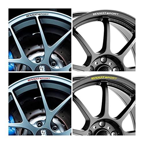 AWQC Etiquetas engomadas de Las Rayas de Las Llantas Compatible con X8 Renault Sport Car Ruew Wheel Aleación Etiquetas engomadas Gráficos Clio Megane RS Laguna Scenic Trofy Twingo PVC
