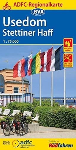 ADFC-Regionalkarte Usedom Stettiner Haff, 1:75.000, reiß- und wetterfest, GPS-Tracks Download: Mit Internationalem Radrundweg um das Stettiner Haff (ADFC-Regionalkarte 1:75000)