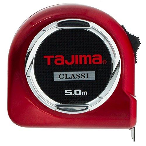 Tajima H1550MW Class 1 Hi Lock Measuring Tape, Red, 5 m x 25 mm