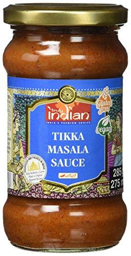 TRULY INDIAN Tikka Masala Sauce, Angenehm scharfe Fertigsauce für schnelle Gerichte mit natürlichen Zutaten, Authentisch indisch kochen, Vegan & glutenfrei (6 x 285 g)