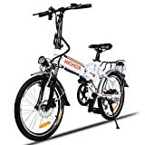 ANCHEER Folding Electric Bike Ebike, 20'' Electric Bicycle with 36V 8Ah Removable Lithium-Ion Battery, 250W Motor and Professional 7 Speed Gearlf jdslfd