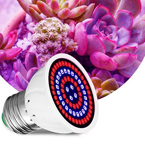 Lámparas creciendo, crece la bombilla 60 LED E27 crecimiento de las plantas del espectro completo de la planta hortícola de la lámpara 220v interior de las plantas de interior suculentas Jardín