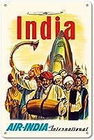 India Air-India International ティンサイン ポスター ン サイン プレート ブリキ看板 ホーム バーために