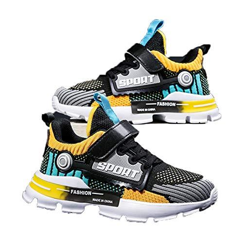 Zapatillas de Deporte para niños Color Mixto Transpirables Ligeras Bajas Deportivas para Correr para Caminar para Caminar Zapatillas de Malla Informales
