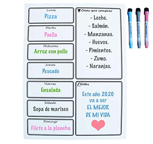 Calendario Magnético Nevera - Ideal Planificador