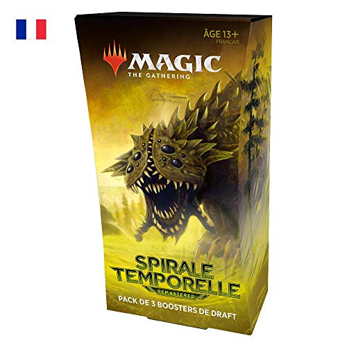 Magic: The Gathering- Pack de Draft de 3 boosters Spirale Temporelle Remastered
