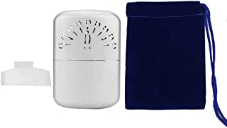 Refillable Hand Warmers, Portable Mini Silver Peacock Pattern Hand Warmer Heaters Pocket Handy Warmer with Storage Bag Ideal for Winter Use