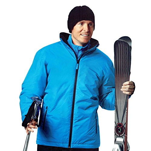 DS Herren Skijacke Snowboardjacke Winddicht und wasserabweisend Ski Blau Bionic Finish Eco Öko-Tex (L (52/54))